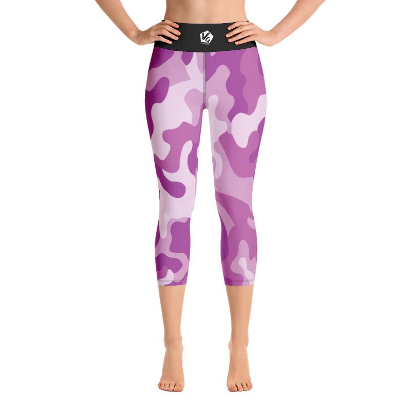 3ff41f715ee31 Pink Camo Print Yoga Capri Leggings – Vibragear Ltd Activewear